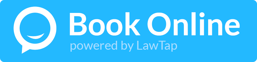 LawTap Lawyer Website Booking Button Example